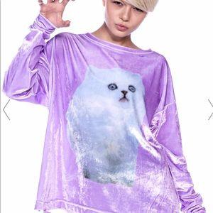 "Rare Wildfox ""Cloud 🐱 Kitten"" Sweater, pullover"
